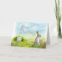 This Rabbit wishes a Happy Birthday! Card