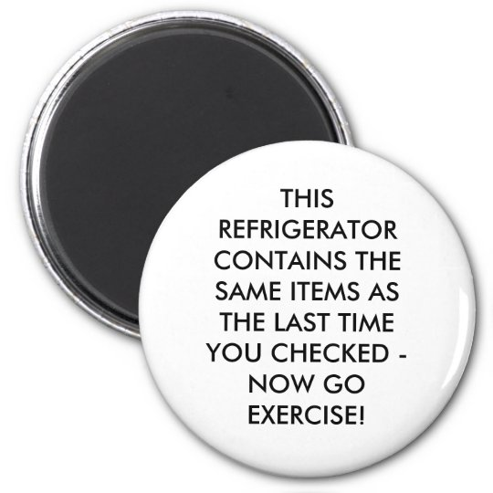 THIS REFRIGERATOR CONTAINS THE SAME ITEMS AS TH... MAGNET