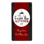 This Retro Dish Comes From You! Custom Shipping Labels