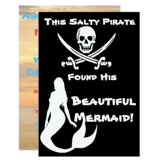 This Salty Pirate Found His Beautiful Mermaid Invitation