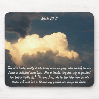 This Same Jesus Acts 1:10 and 11 Mouse Pad