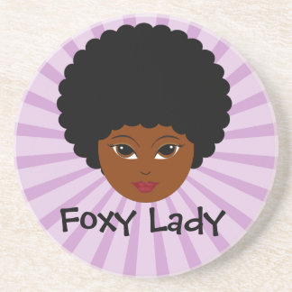 This sassy vixen is too much woman for you drink coasters