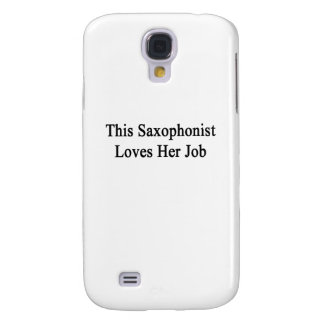 This Saxophonist Loves Her Job Samsung Galaxy S4 Cover