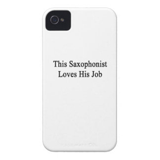 This Saxophonist Loves His Job iPhone 4 Case-Mate Case