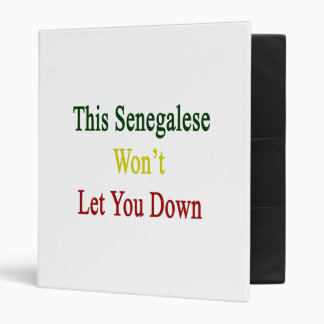 This Senegalese Won't Let You Down Binders