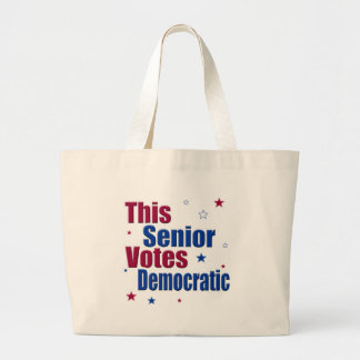 This Senior Votes Democratic Large Tote Bag