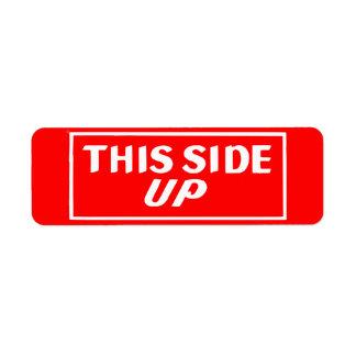 This Side Up Mailing Sticker Label Return Address Label