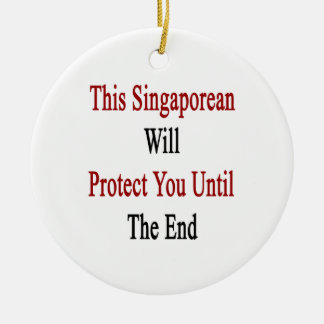 This Singaporean Will Protect You Until The End Christmas Tree Ornament