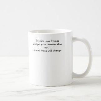 This site uses framesAnd yet your browser does ... Coffee Mug