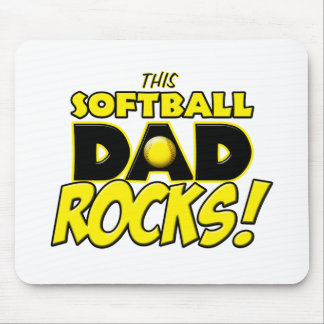 This Softball Dad Rocks copy.png Mouse Pad
