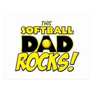 This Softball Dad Rocks copy.png Postcard