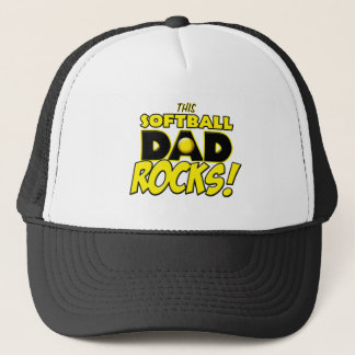 This Softball Dad Rocks copy.png Trucker Hat