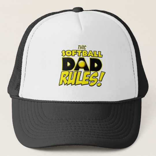This Softball Dad Rules copy.png Trucker Hat  cb69a302a56