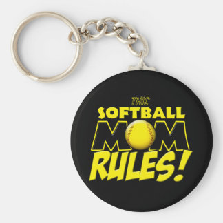 This Softball Mom Rules copy.png Keychain