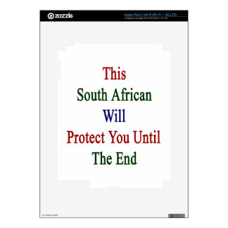 This South African Will Protect You Until The End. iPad 3 Skins