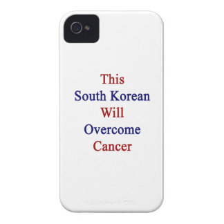 This South Korean Will Overcome Cancer iPhone 4 Case