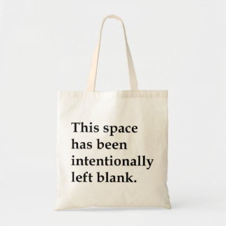 This Space Blank Canvas Bag