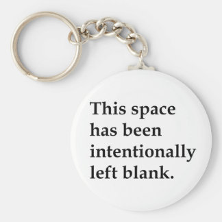 This Space Blank Basic Round Button Keychain