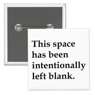 This Space Blank Pinback Button