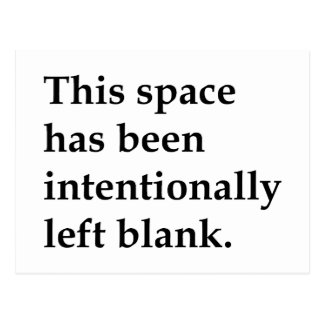 This Space Blank Postcard