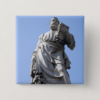 This statue of Saint Peter is on the left side Pinback Button
