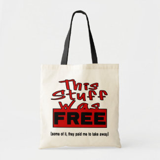 This Stuff Was FREE! (red) Tote Bags