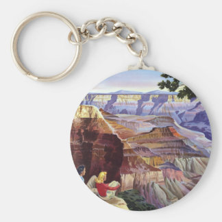 This Summer Visit Grand Canyon Basic Round Button Keychain