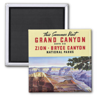 This Summer Visit Grand Canyon 2 Inch Square Magnet