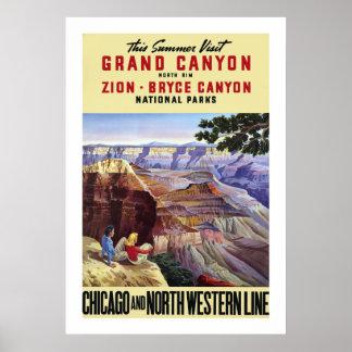 This Summer Visit Grand Canyon Poster