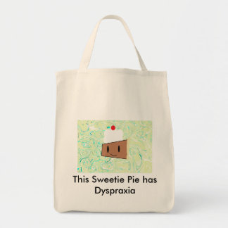 This Sweetie Pie has Dyspraxia Canvas Bags
