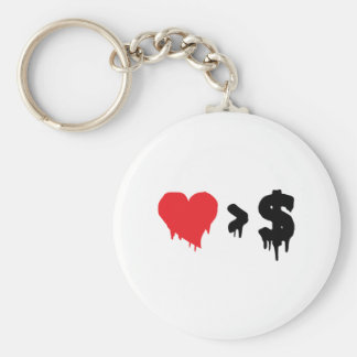 This t, love greater than money keychain