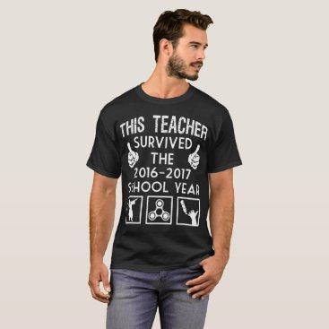 McTiffany Tiffany Aqua This Teacher survived the 2016-2017 school year T-Shirt