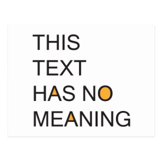 this text has no meanig. postcard