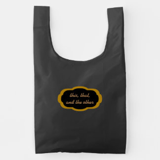 This, That, The Other, Scalloped Oval Emblem Reusable Bag