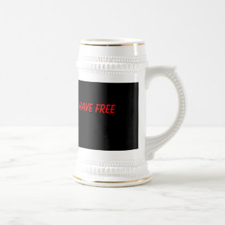 This thing better have free refills. 18 oz beer stein