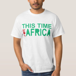 This Time for Africa Waka-waka Green Red T-Shirt