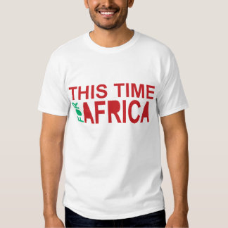 This Time For Africa Waka-waka Red Blue T-Shirt