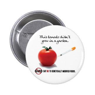 This tomato didn't grow in a garden. Say NO to GMO Button