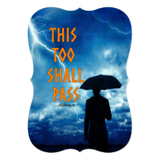 This Too Shall Pass (12 step recovery program) Card