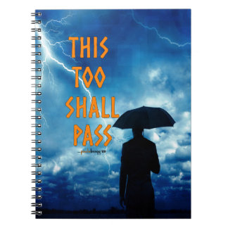 This Too Shall Pass (12 step recovery program) Spiral Notebook
