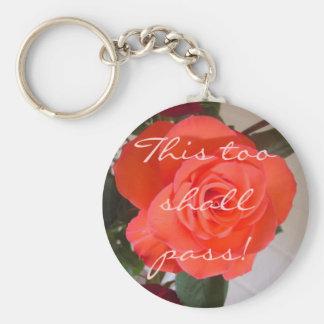 This too shall pass! basic round button keychain