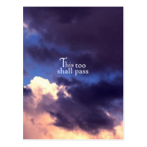 This too shall pass postcard