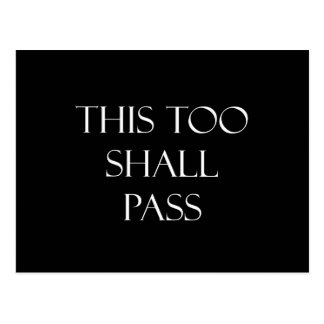 This Too Shall Pass Quotes Strength Quote Postcard