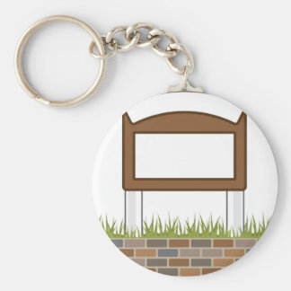 This town sign Vector Blank Keychain