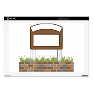 This town sign Vector Blank Laptop Decals