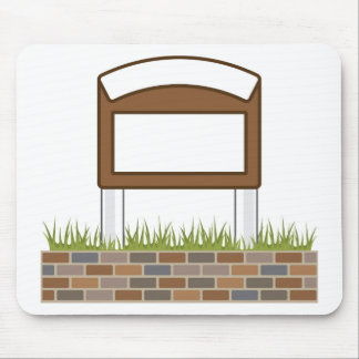 This town sign Vector Blank Mouse Pad