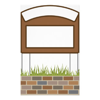 This town sign Vector Blank Stationery