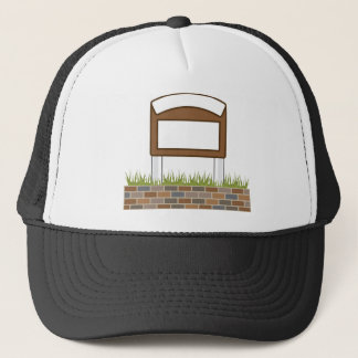 This town sign Vector Blank Trucker Hat
