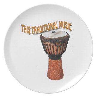 This Traditional Music Gendang Equipment Dinner Plate