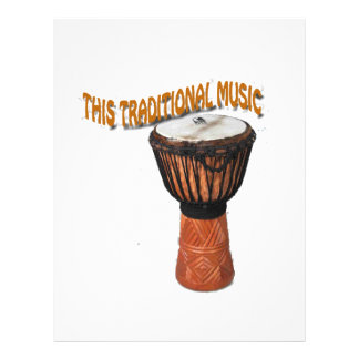 This Traditional Music Gendang Equipment Letterhead Template